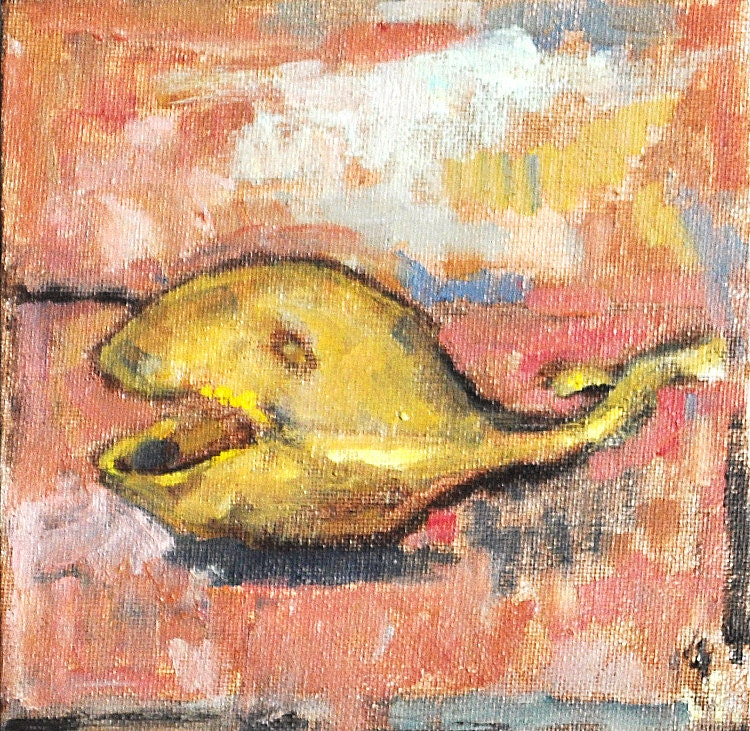 Whale Ashtray Still Life Painting