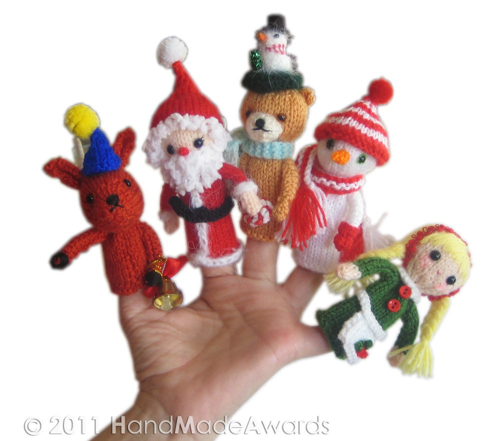 KNITTED FINGER PUPPET PATTERNS   Free Patterns