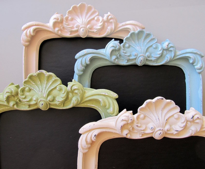 Framed Table Numbers for Wedding Table Numbers Chalkboard Shabby Chic