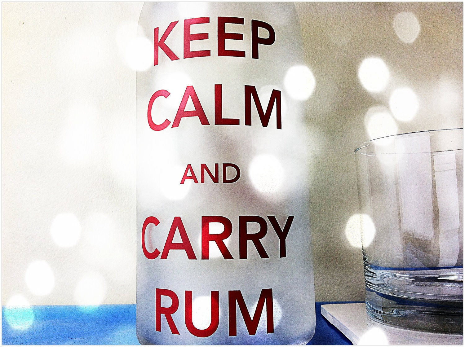 Cocktail Bottle: Keep Calm and Carry Rum