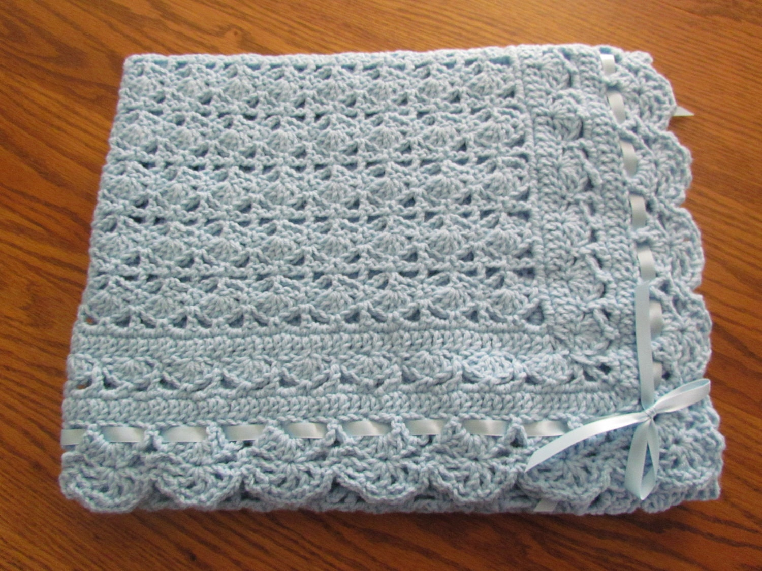 Free Crochet Pattern For Lacy Baby Blanket : BLANKET CHRISTENING CROCHET PATTERN Crochet Patterns