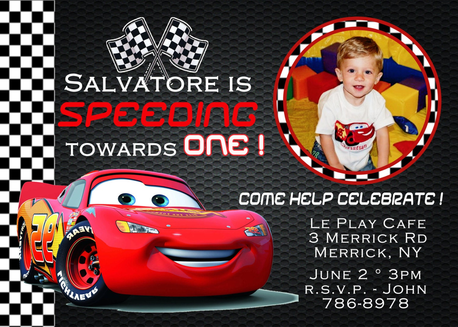 Cars Invitation Card Template Free: Disney Birthday Invitation