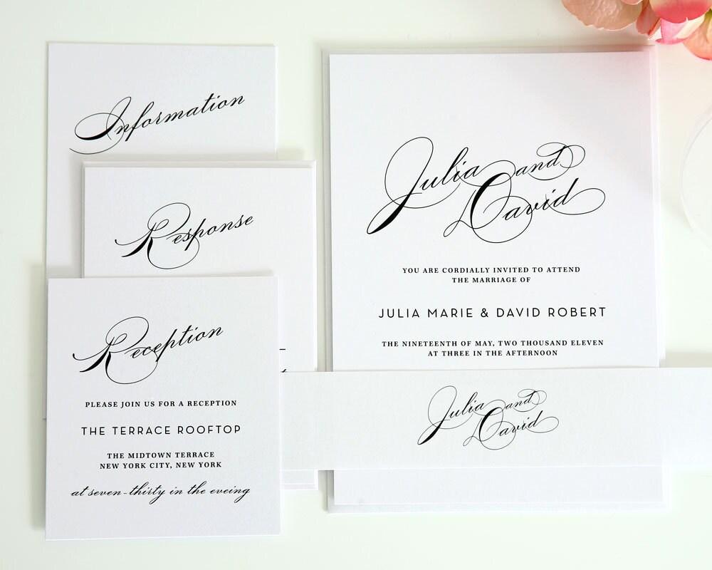 Vintage Glam Wedding Invitations: Bold Sparrow Vintage: Vintage Weddings