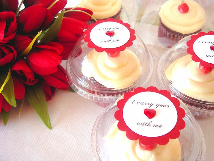 Cupcake wedding favor boxes set of 100 From PoshBoxCouture