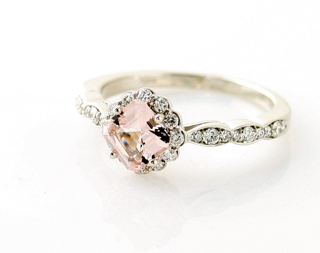 morganite engagement ring. Black Bedroom Furniture Sets. Home Design Ideas