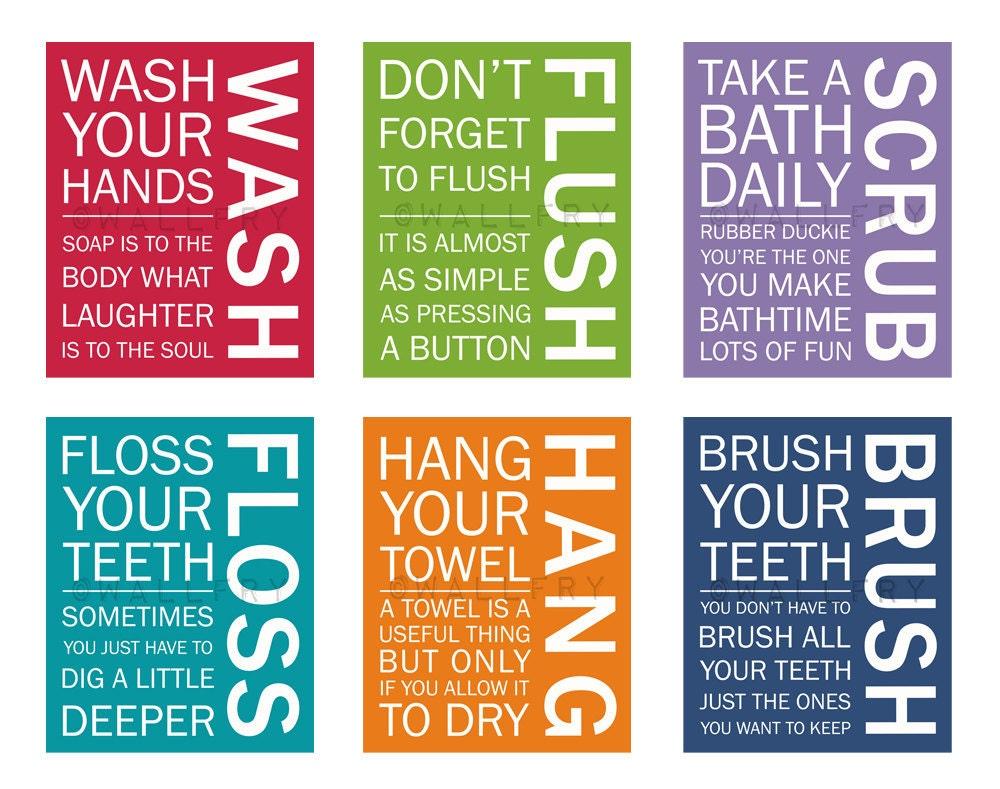 Love these sayings for kids bathroom! | bathroom | Pinterest