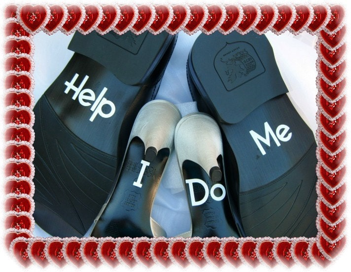 Wedding Shoe Decals I Do Help Me Free Shipping
