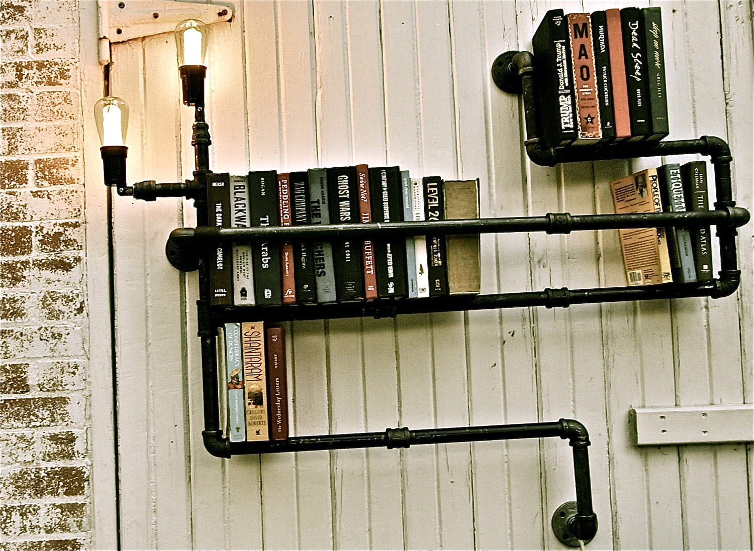 Bookshelf Industrial Pipe Lighting Level 3 At Via