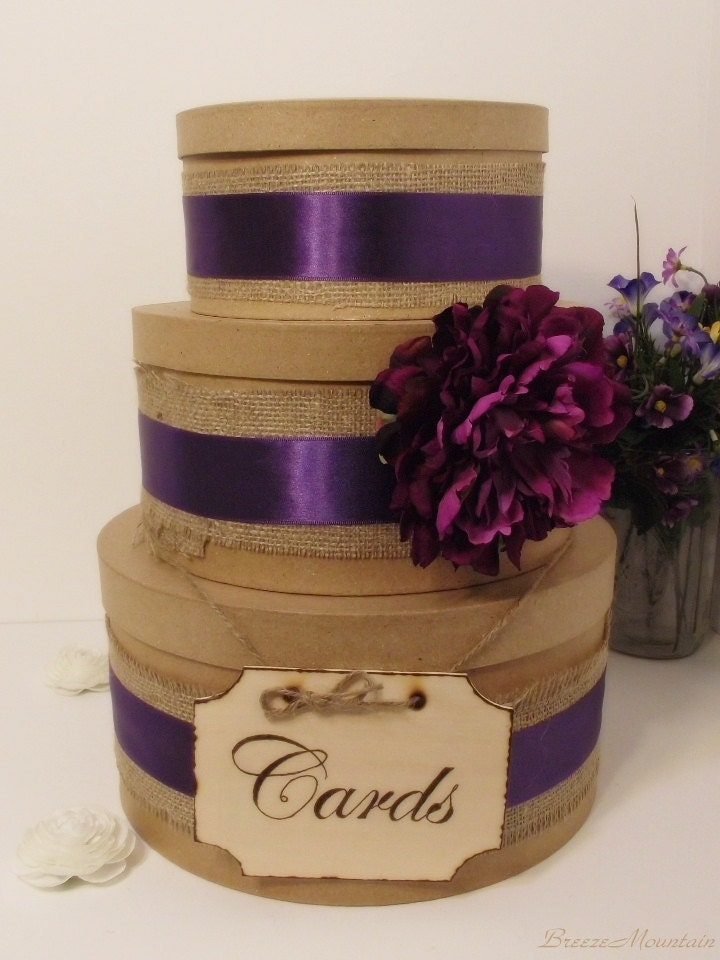 3 Tier Rustic Shabby Chic Wedding Card Box Wedding Card Box Custom Card Box