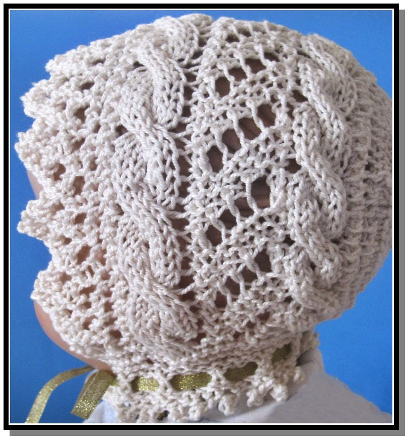 Historic Needlecrafts by KnittyDebby: Cable Road Lace Baby ...