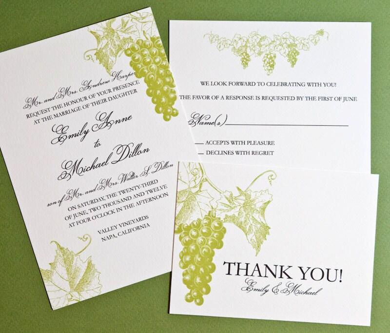 Printable Destination Wedding Invitation Wine Country Wedding