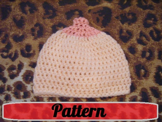 Pdf Boob Beanie Crochet Nursing Maternity Hat Pattern Pro Breast