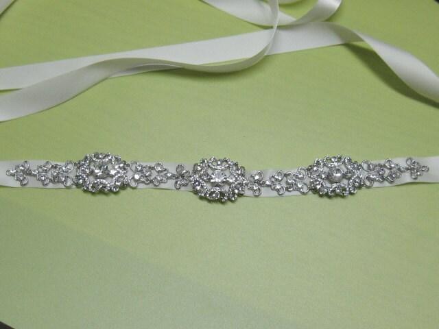 Bridal belt sash ribboncrystal bridal sashrhinestone bridal sash