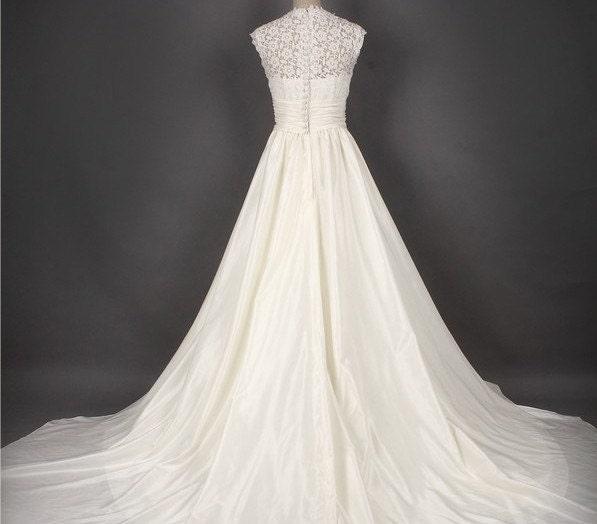 Custom make Vintage Wedding Dress A LINE Bridal Gown Bridesmaid Mermaid V
