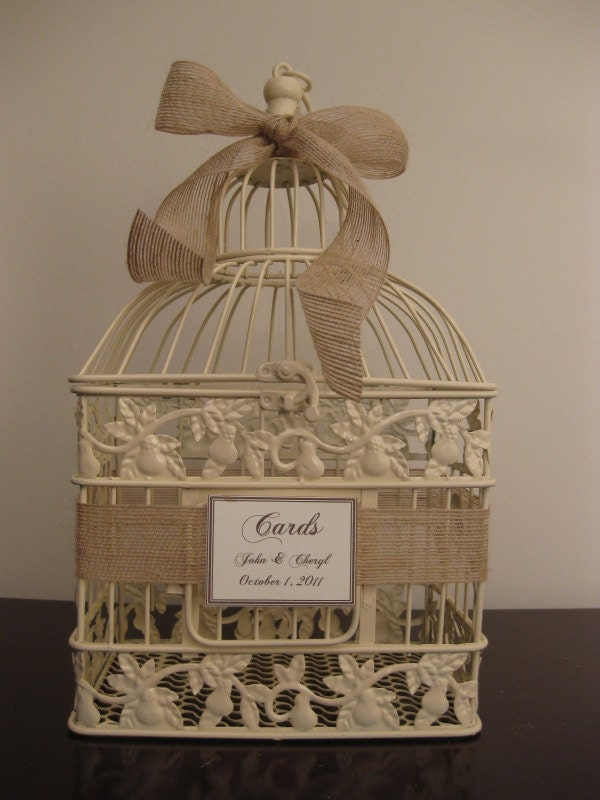 wedding card birdcage