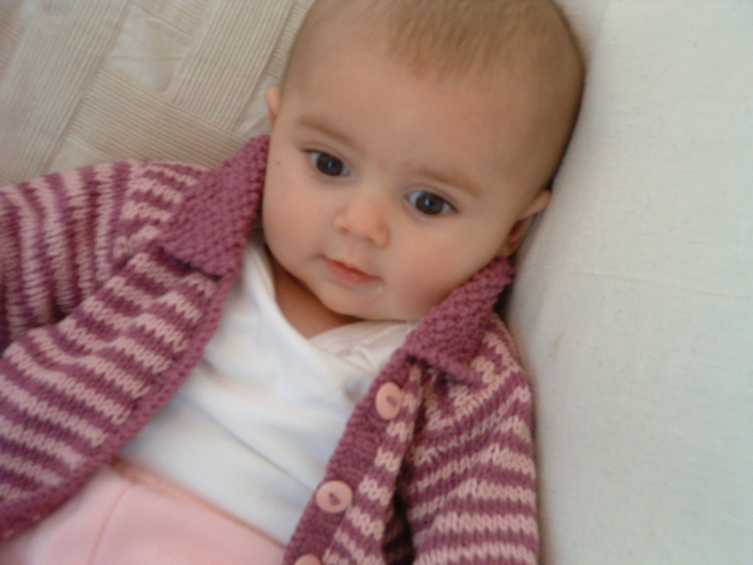 Knit Pattern Baby Cardigan   Design Patterns